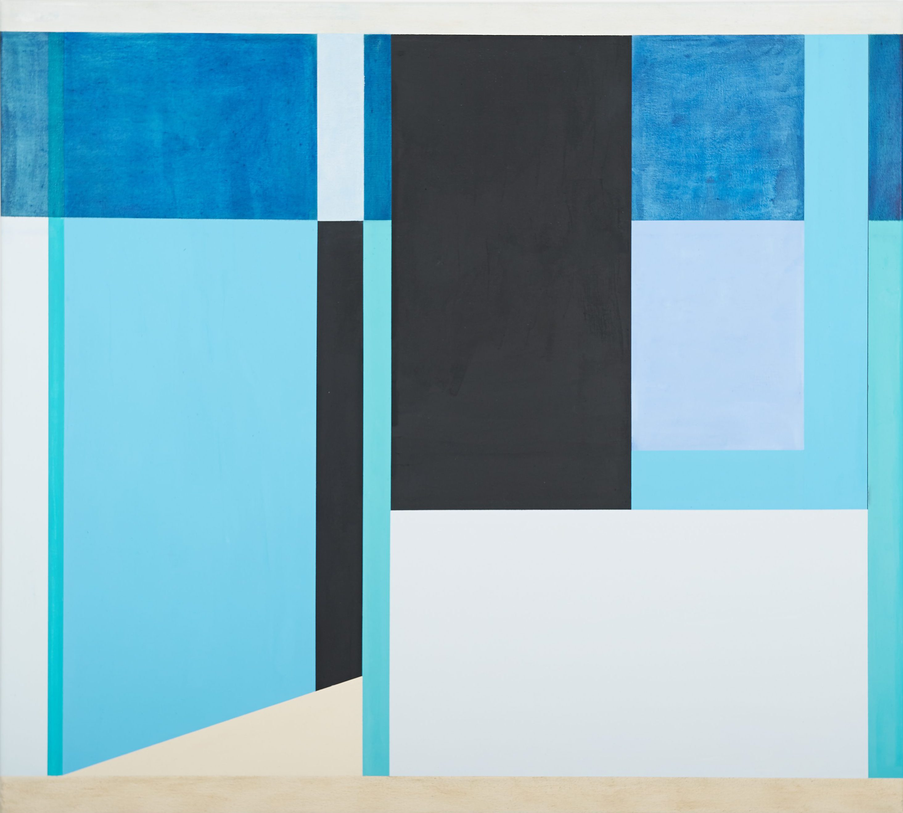 Am Meer I (Sulawesi), 2013, 90 x 100 cm, Öl/Lw. By the Sea I (Sulawesi), 2013, 90 x 100 cm, Oil on canvas