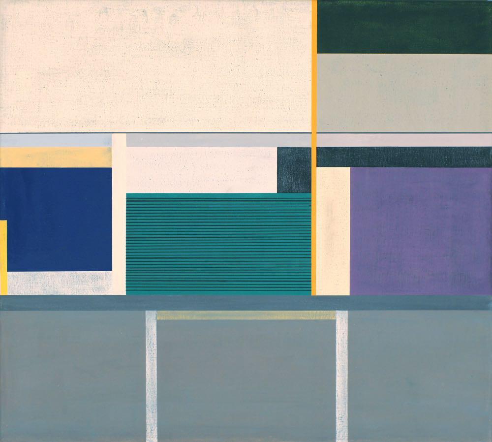 Auckland, 2013, 45 x 50 cm, Öl/Lw,  Oil on canvas