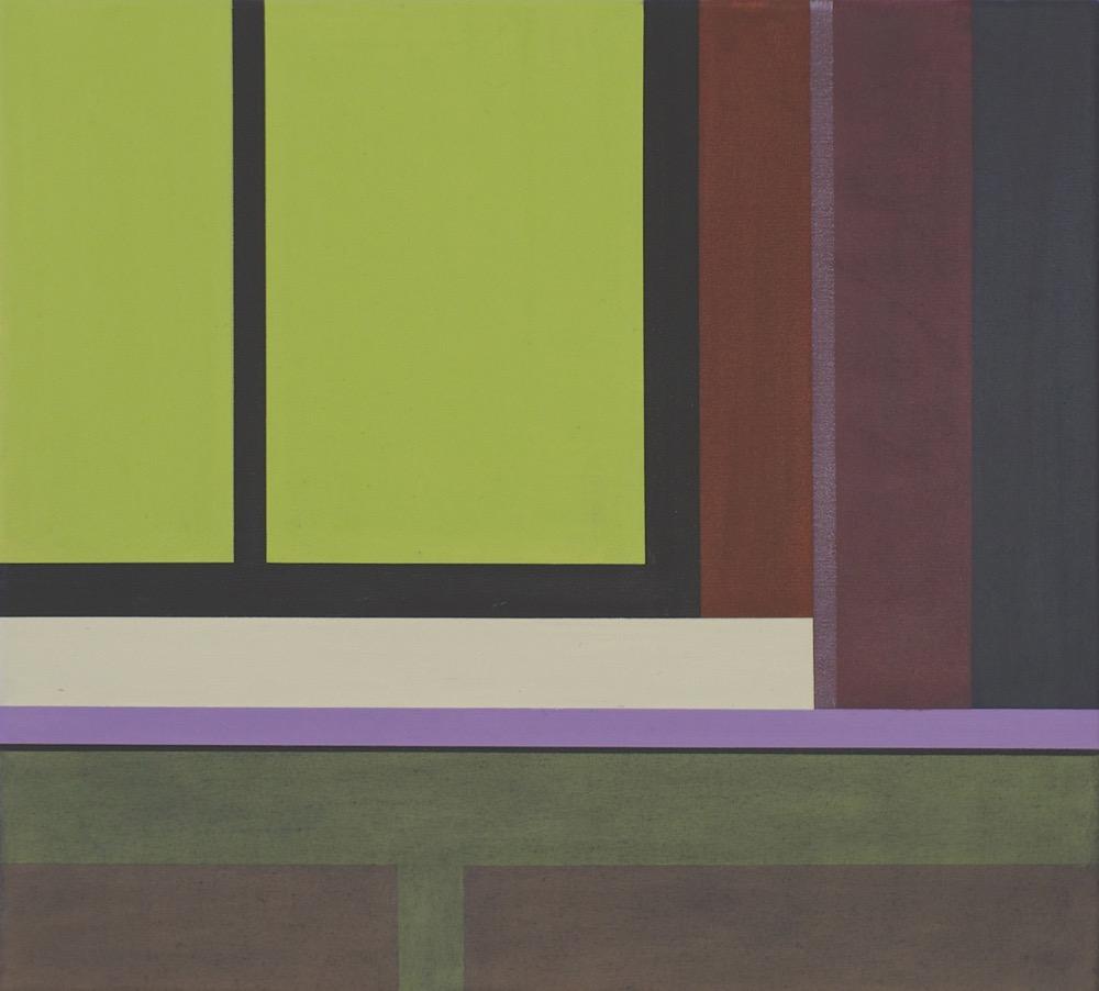 Tempel in Nikko VII / Temple in Nikko VII, 2014, 45 x 50 cm, Oil on canvas