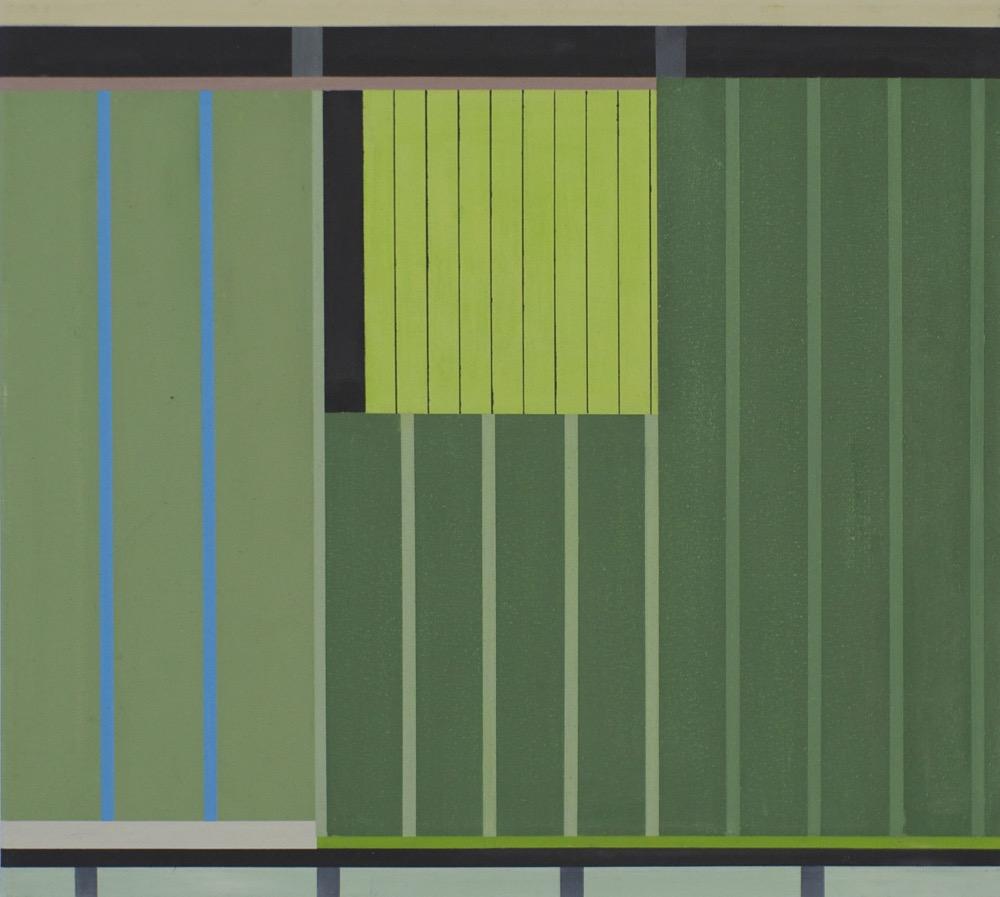 Grünes Haus / Green House, 2014, 45 x 50 cm, Oil on canvas