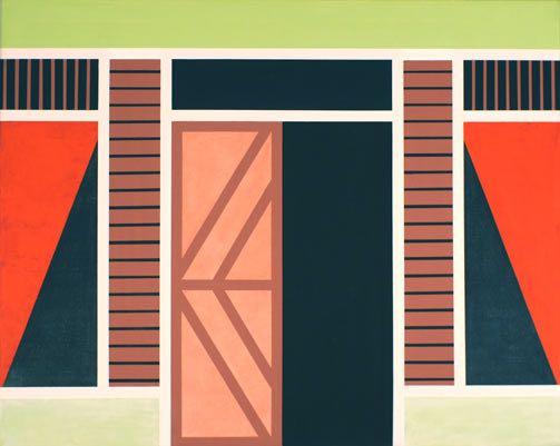 Haus I (Indonesien), 2012, 100 x 80 cm, Öl/Lw House I (Indonesien), 2012, 100 x 80 cm, Oil on canvas