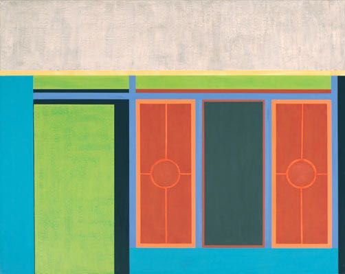 Haus III (Indonesien), 2012, 100 x 80 cm, Öl/Lw House III (Indonesien), 2012, 100 x 80 cm, Oil on canvas