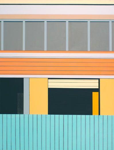 An der Markthalle II (Ratchaburi), 2012, 120 x 130 cm, Öl/Lw At the Market Hall II (Ratchaburi), 2012, 120 x 130 cm, Oil on canvas