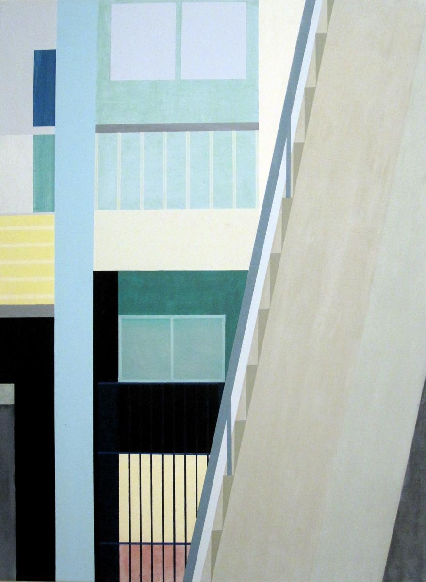 In Ratchaburi II, 2011, 105 x 80 cm, Ölfarbe auf Leinwand In Ratchaburi II, 2011, 105 x 80 cm, Oil on canvas