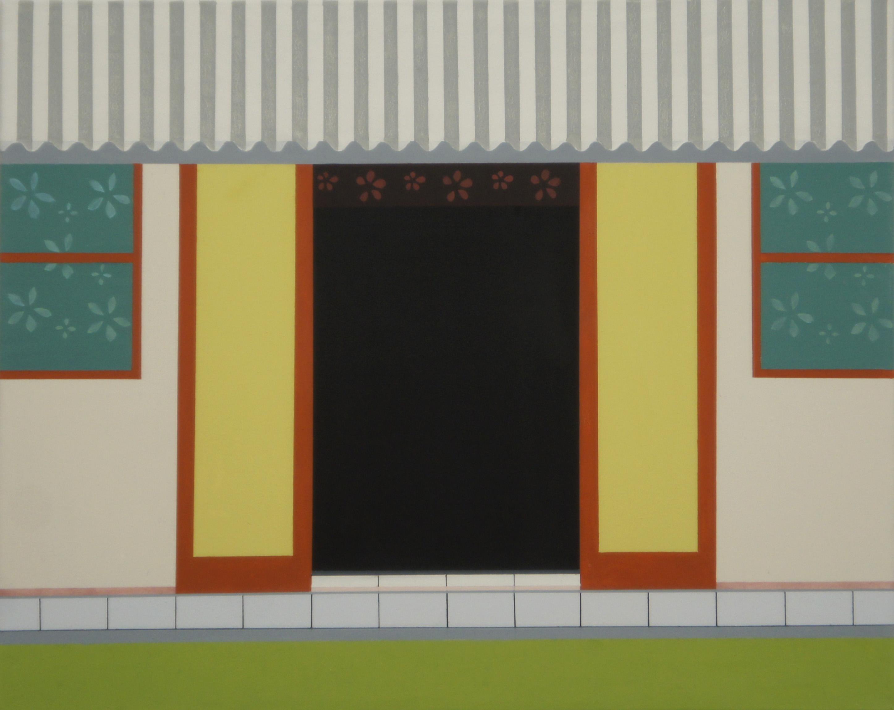 Auf Rarotonga, 2010, 80 x 100 cm, Ölfarbe auf Leinwand On Rarotonga, 2010, 80 x 100 cm, Oil on canvas
