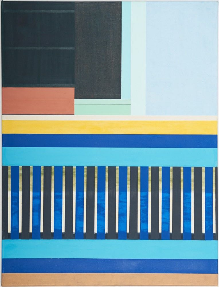 Auf Bangkorung I, 2012, 105 x 80 cm, Öl/Lw On Bangkorung I,   2012, 105 x 80 cm, Oil on canvas