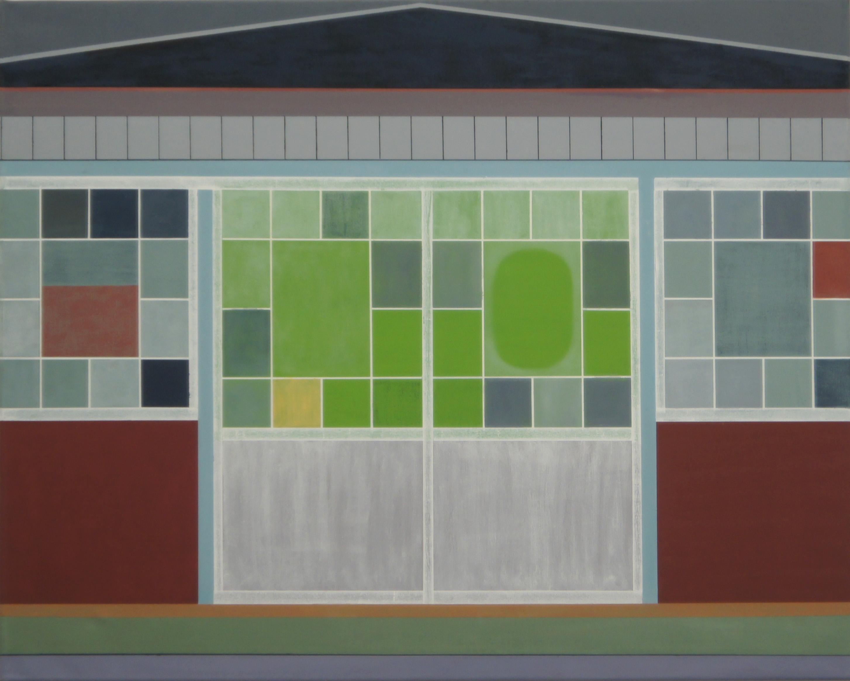 Haus in Ueno, Tokyo, 2010, 80 x 100 cm, Ölfarbe auf Leinwand House in Ueno, Tokyo, 2010, 80 x 100 cm, Oil on canvas