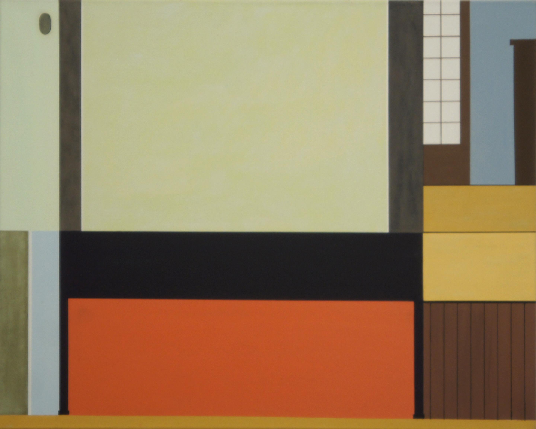 In einem traditionellen Haus, Ueno, Tokyo, 2010,  80 x 100 cm, Ölfarbe auf Leinwand In a traditional house, Ueno, Tokyo, 2010, 80 x 100 cm,  Oil on canvas