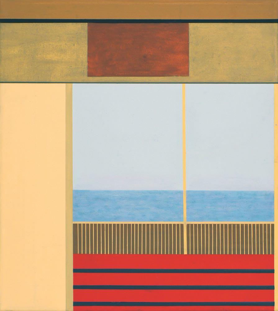 Fähre/Ferry (Fiji), 2013, 50 x 45 cm, Öl/Lw,  Oil on canvas