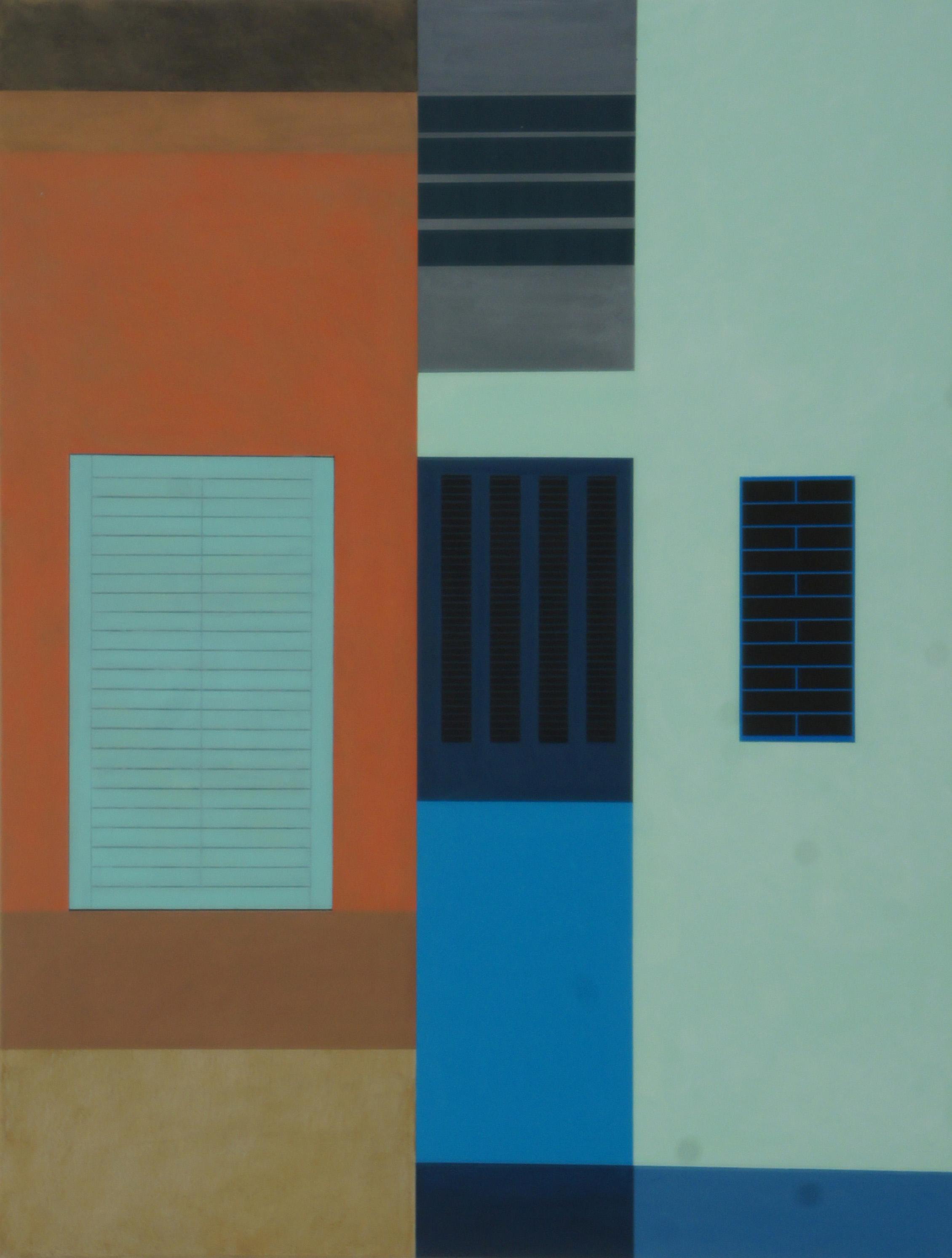 In Varanasi, 2011, 105 x 80 cm, Ölfarbe auf Leinwand In Varanasi, 2011, 105 x 80 cm, Oil on canvas