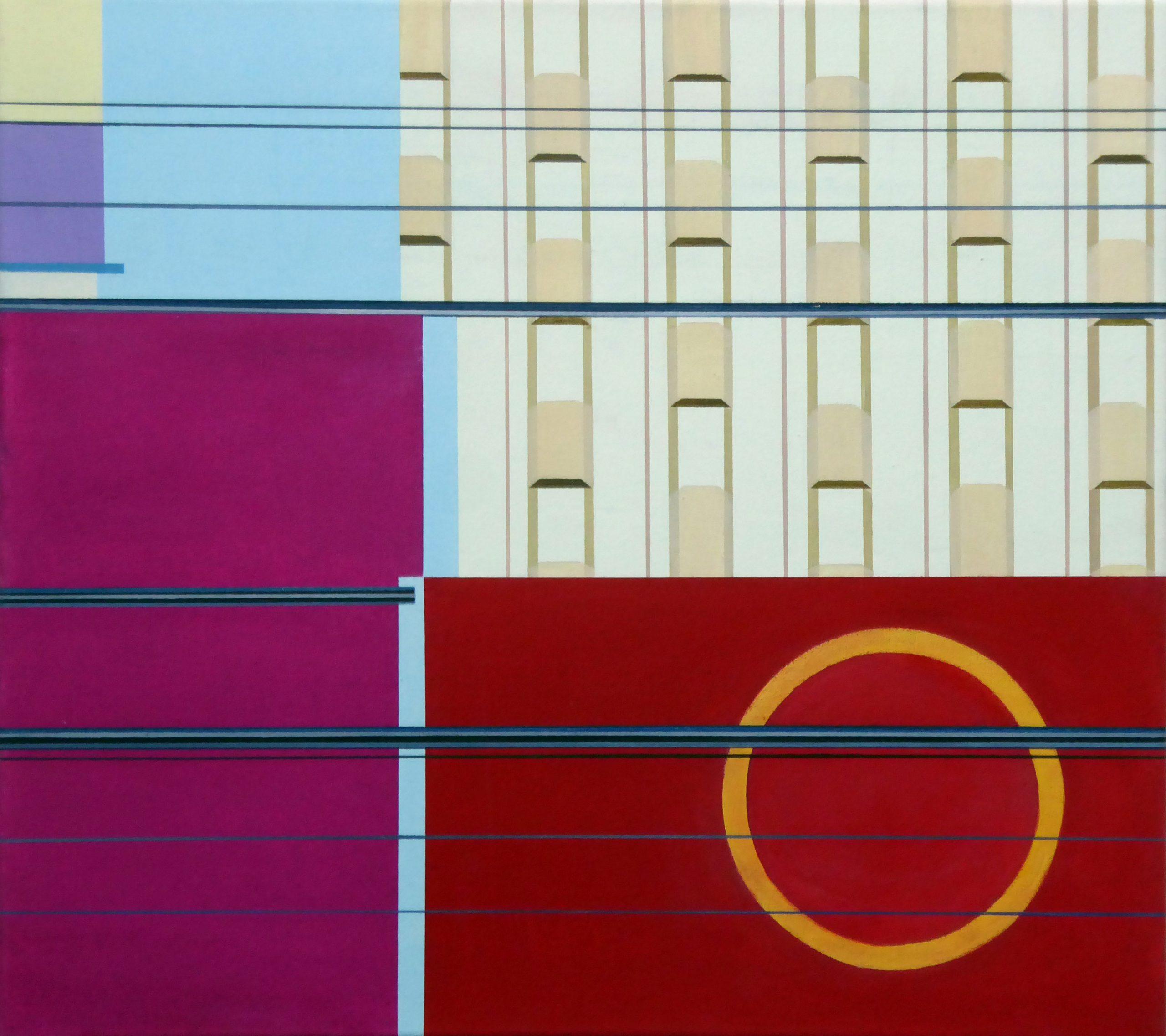 ChinatownII, 2019, 45 x 50 cm, Öl/Lw
