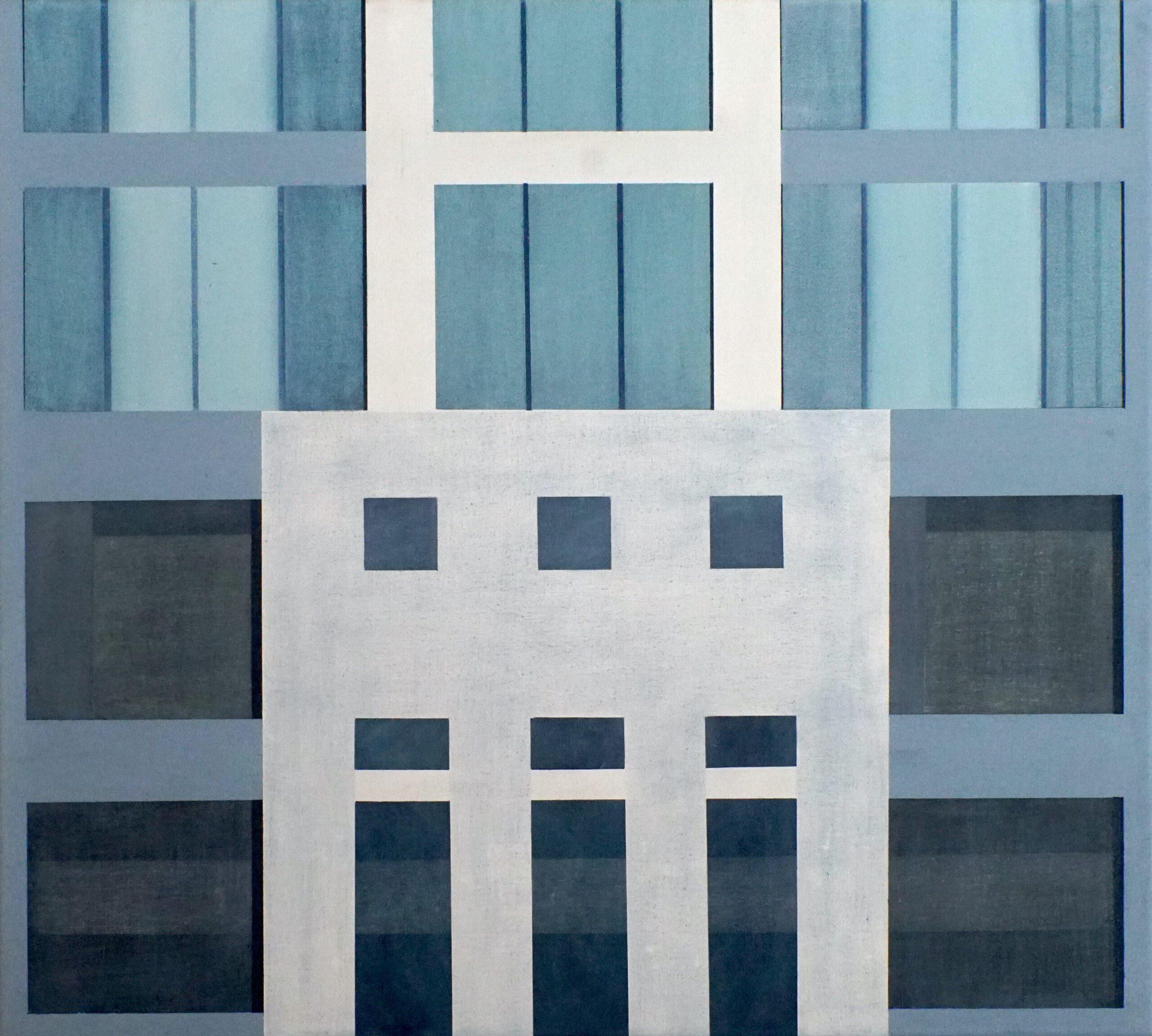 Am Highway II, 2020, 45 x 50 cm, Öl/Lw, Oil on Canvas