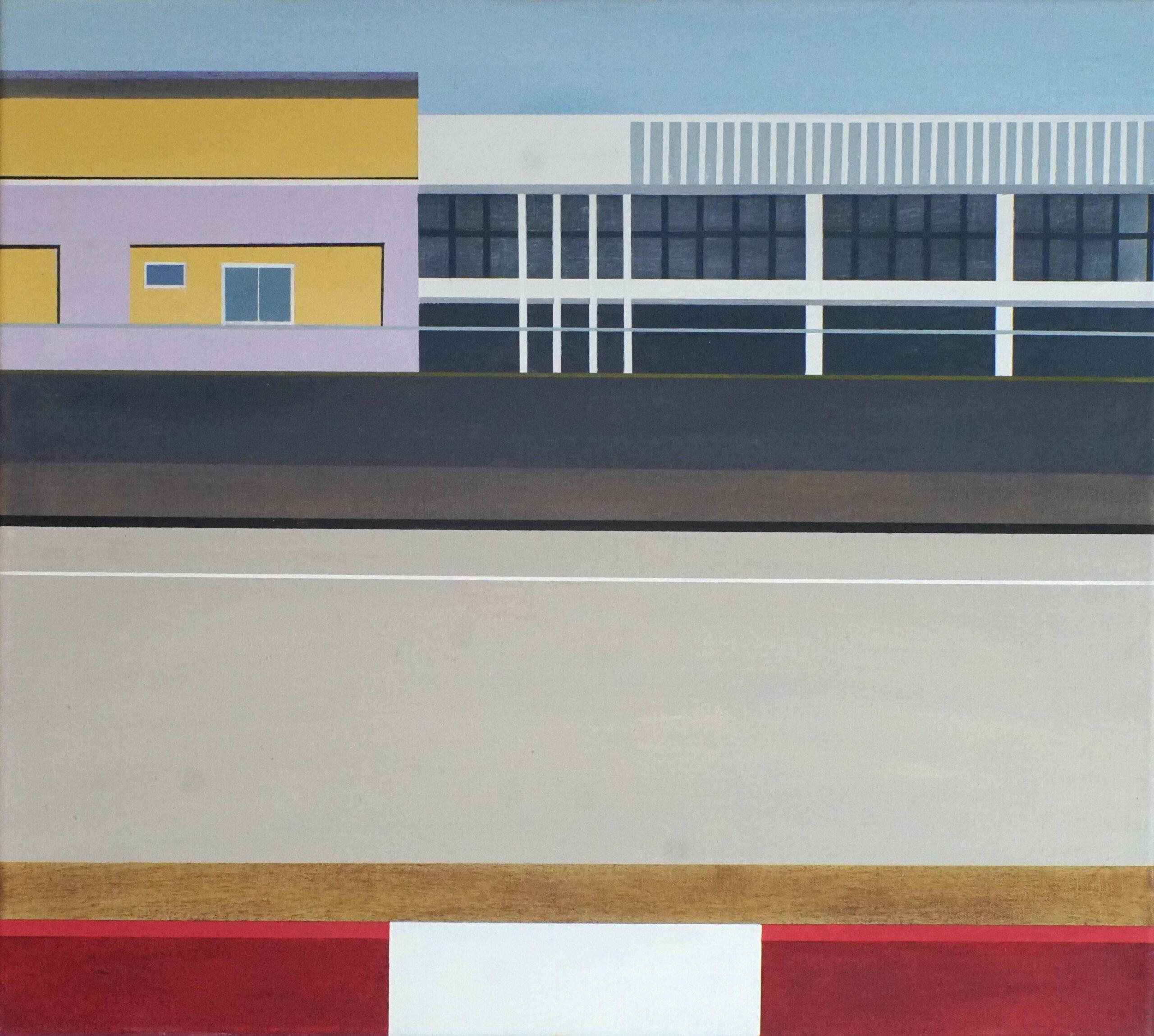 Am Highway IV, 2020, 45 x 50 cm, Öl/Lw, Oil on Canvas