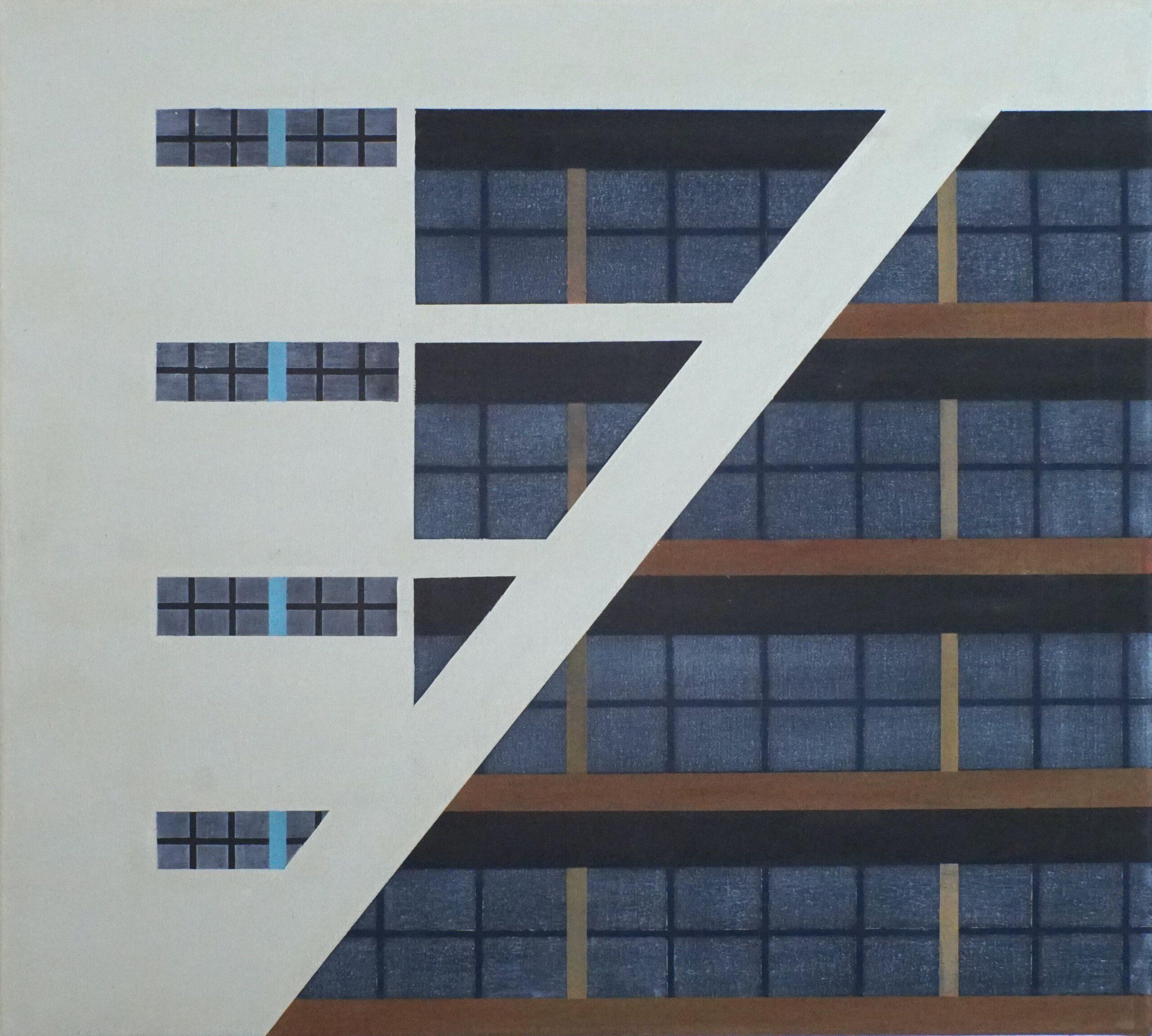 Am Highway V, 2020, 45 x 50 cm, Öl/Lw, Oil on Canvas
