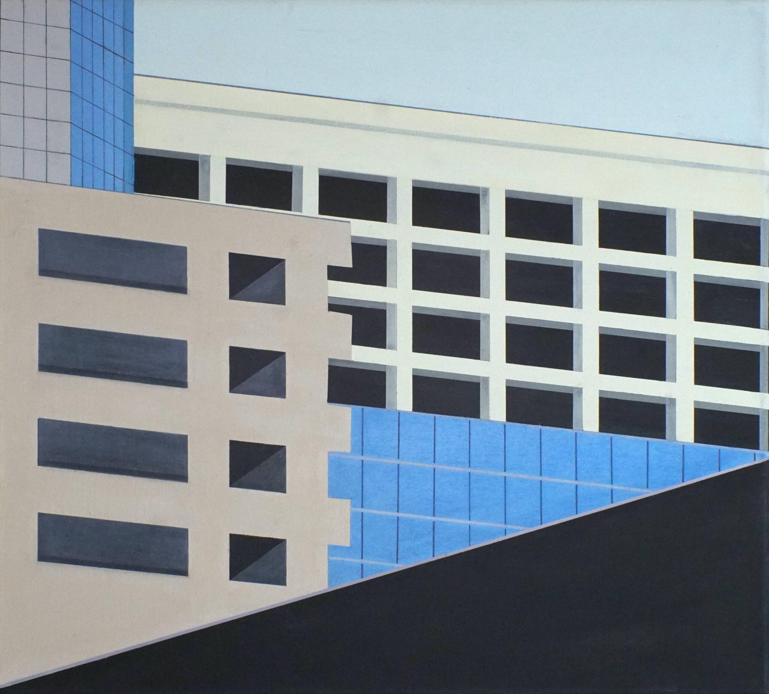 Am Highway VI, 2020, 45 x 50 cm, Öl/Lw, Oil on Canvas