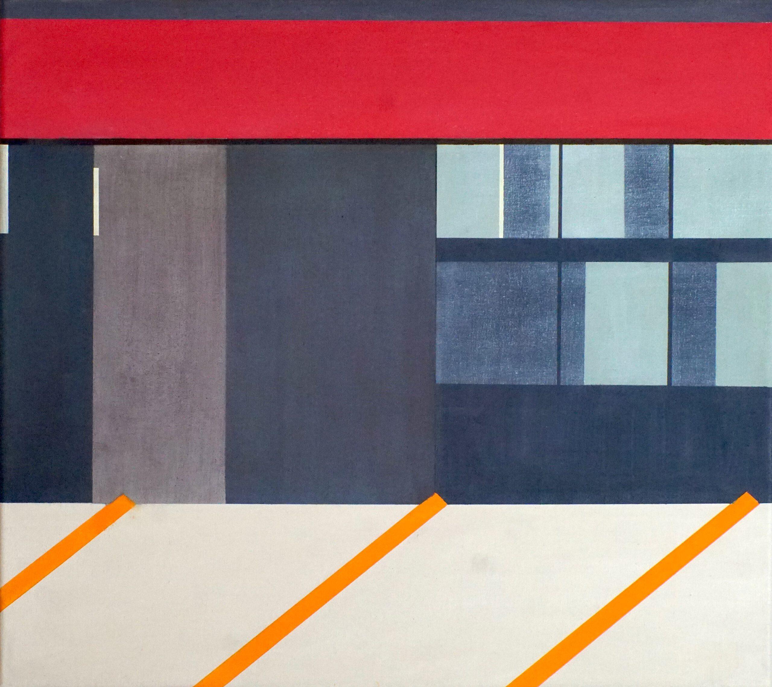 Spandau II, 2020, 45 x 50 cm, Öl/Lw, Oil on Canvas