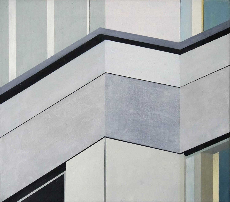 Alexanderplatz 2, 2021, 45 x 50 cm, Öl/Lw, Oil on Canvas