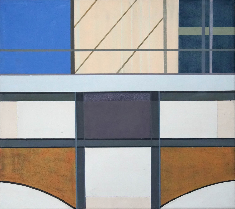 Alexanderplatz 4, 2021, 45 x 50 cm, Öl/Lw, Oil on Canvas