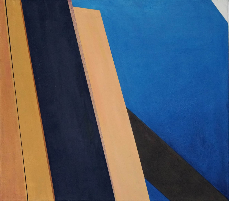 BER 2, 2021, 45 x 50 cm, Öl/Lw, Oil on Canvas