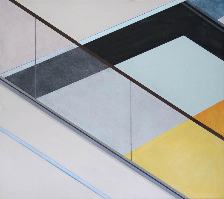 BER 5, 2021, 45 x 50 cm, Öl/Lw, Oil on Canvas