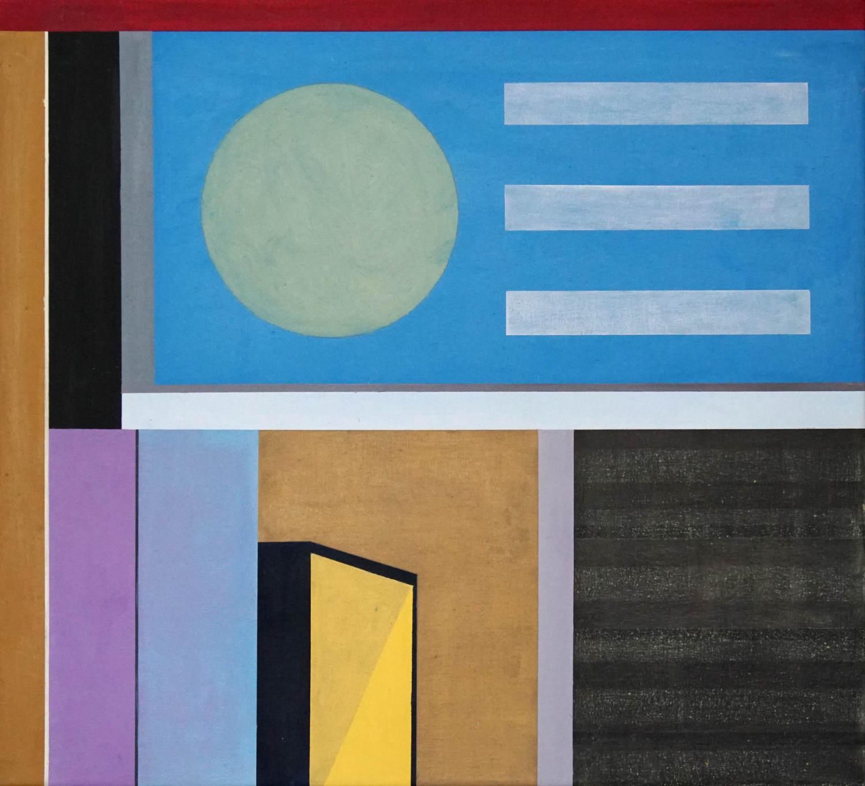 BER 6, 2021, 45 x 50 cm, Öl/Lw, Oil on Canvas