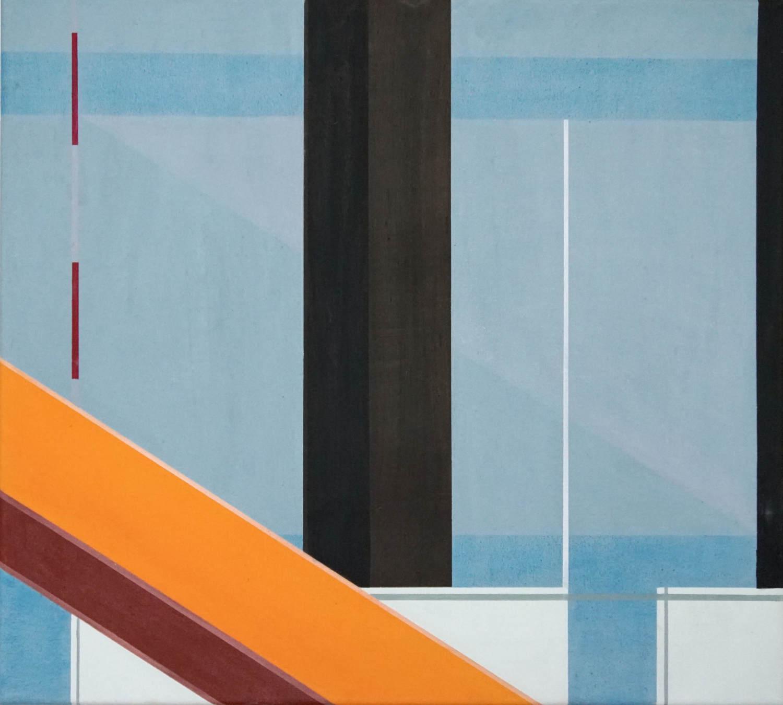 BER 7, 2021, 45 x 50 cm, Öl/Lw, Oil on Canvas