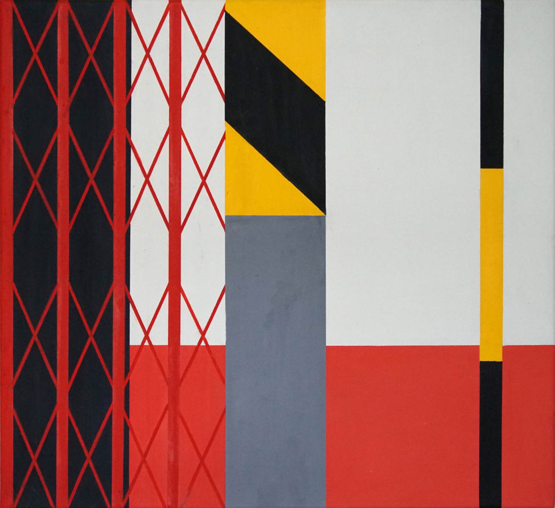Feuerwehr Trat, 2021, 45 x 50 cm, Öl/Lw, Oil on Canvas