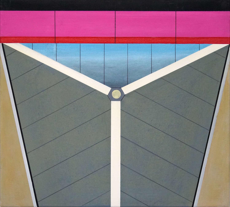 Tegel I, 2020, 45 x 50 cm, Öl/Lw, Oil on Canvas