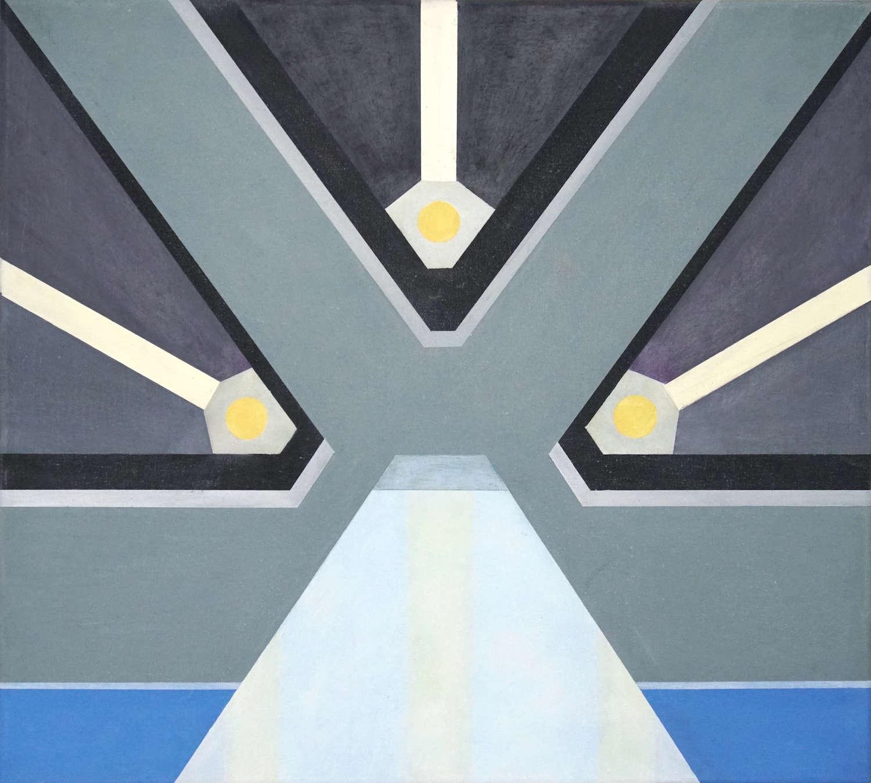 Tegel 10, 2020, 45 x 50 cm, Öl/Lw, Oil on Canvas