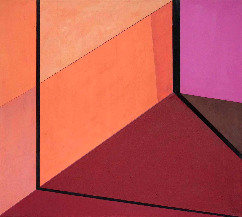 Tegel 11, 2020, 45 x 50 cm, Öl/Lw, Oil on Canvas