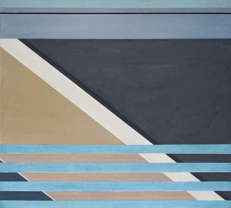 Tegel 12, 2020, 45 x 50 cm, Öl/Lw, Oil on Canvas