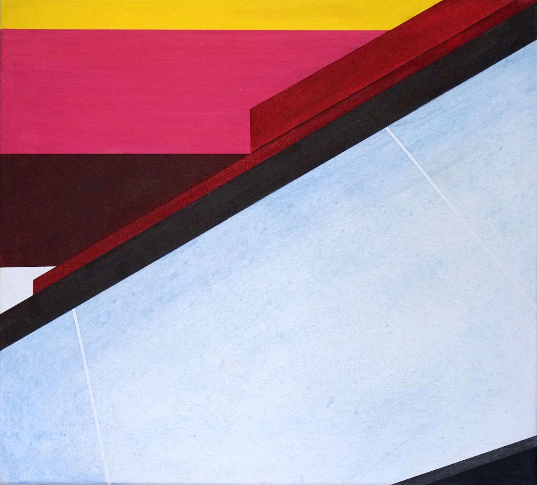 Tegel 13, 2020, 45 x 50 cm, Öl/Lw, Oil on Canvas