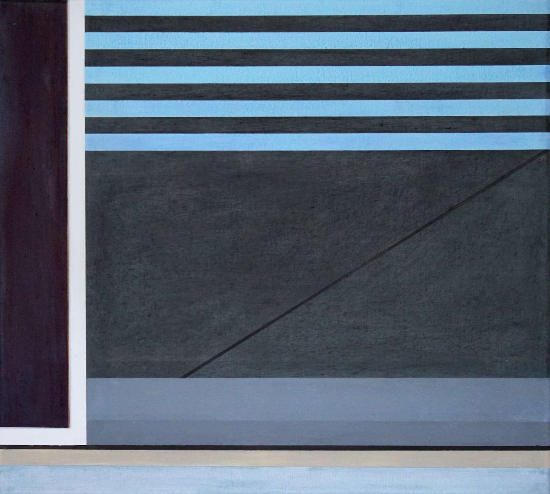 Tegel II, 2020, 45 x 50 cm, Öl/Lw, Oil on Canvas