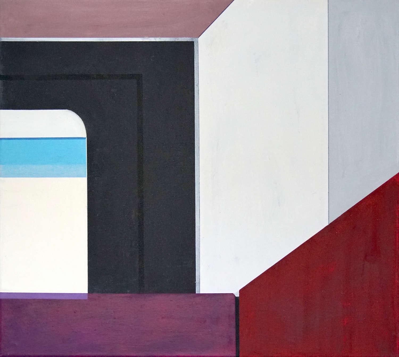 Tegel 4, 2020, 45 x 50 cm, Öl/Lw, Oil on Canvas