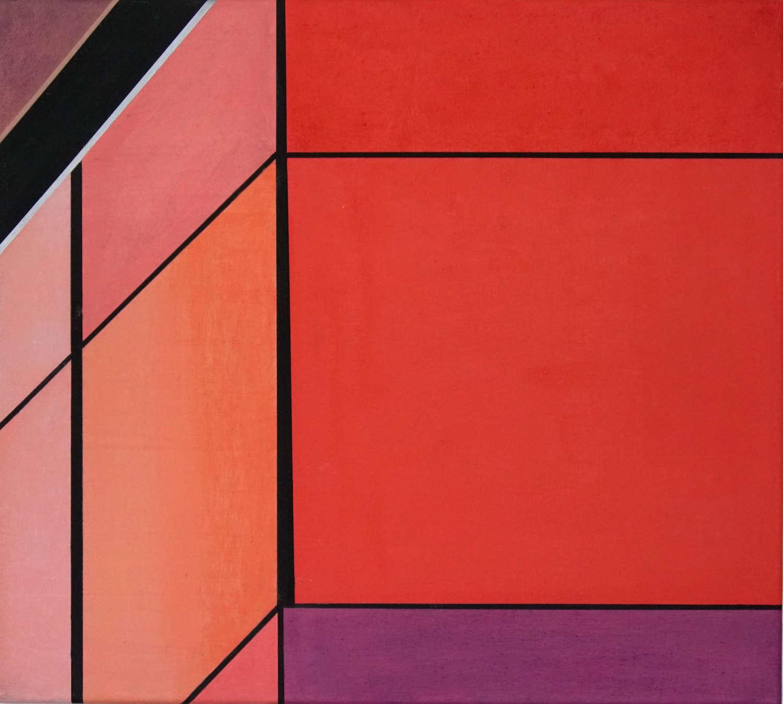 Tegel 5, 2020, 45 x 50 cm, Öl/Lw, Oil on Canvas