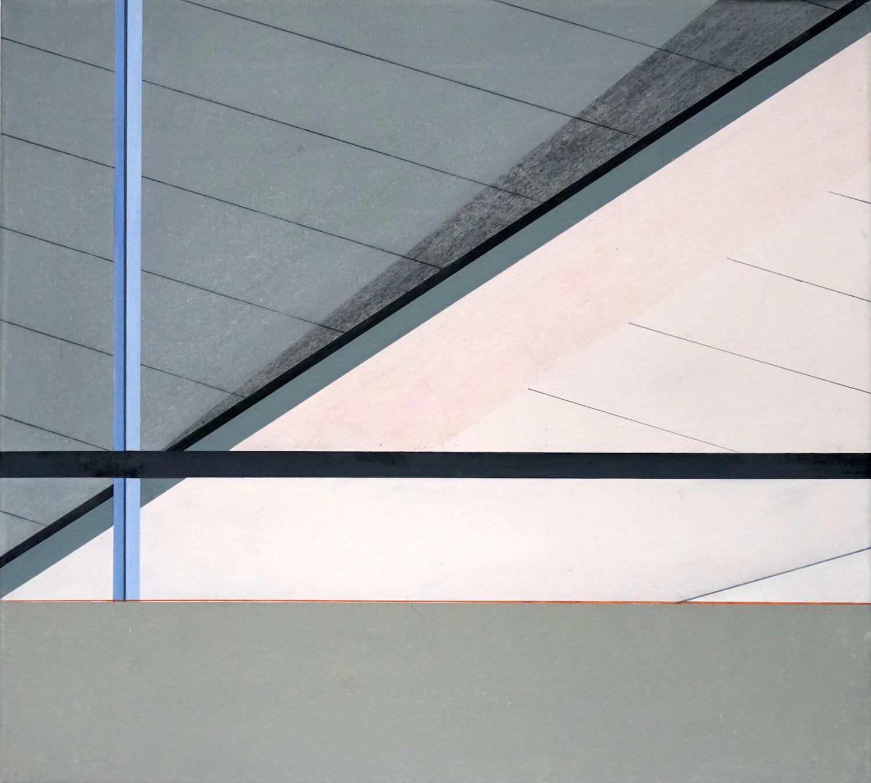 Tegel 8, 2020, 45 x 50 cm, Öl/Lw, Oil on Canvas
