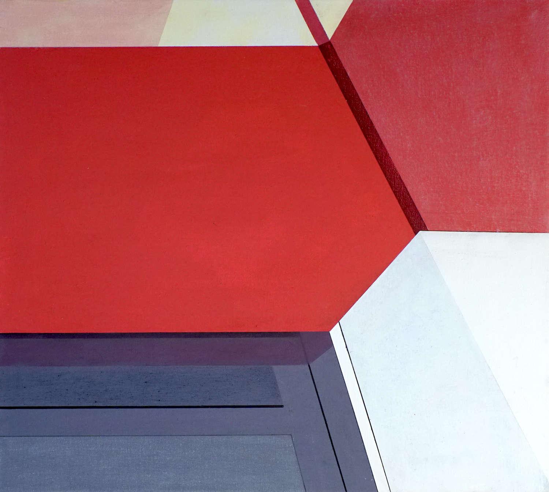 Tegel 9, 2020, 45 x 50 cm, Öl/Lw, Oil on Canvas
