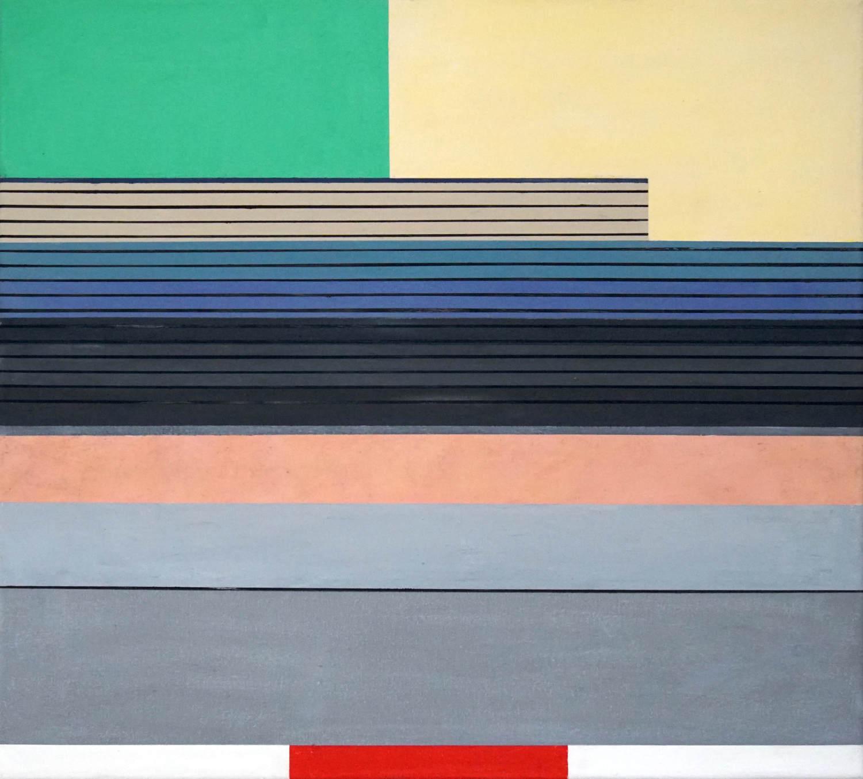 Trat 1, 2021, 45 x 50 cm, Öl/Lw, Oil on Canvas