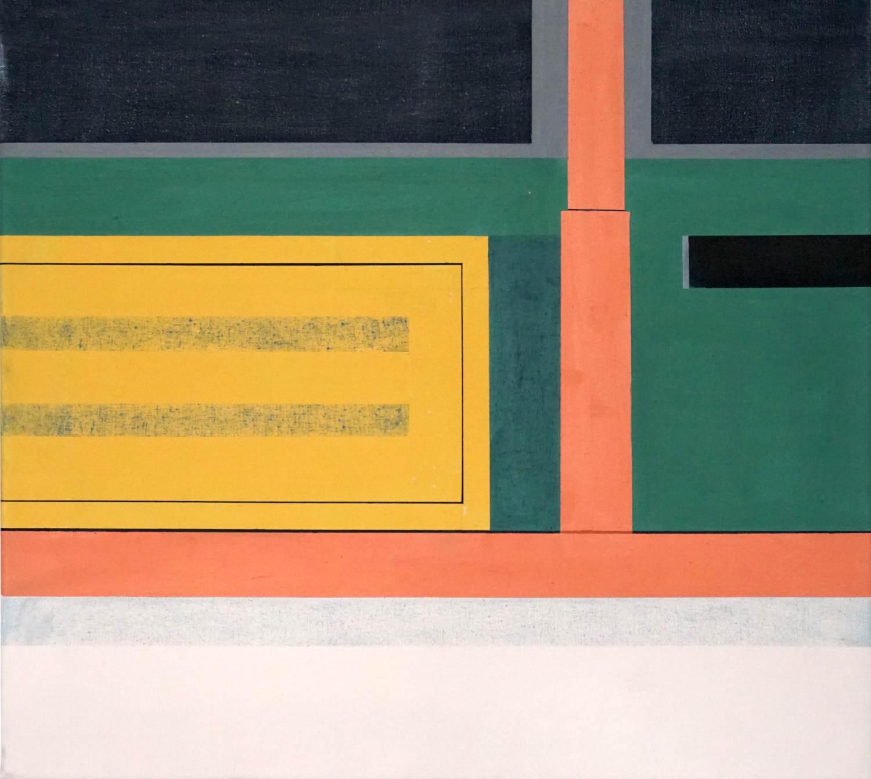 Trat 2, 2021, 45 x 50 cm, Öl/Lw, Oil on Canvas